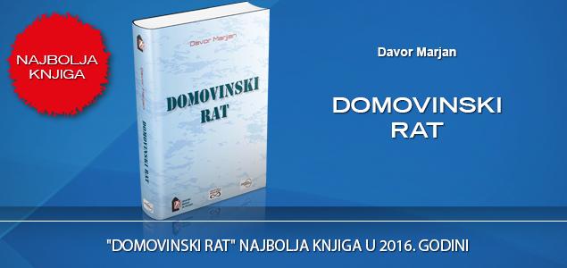 """""""DOMOVINSKI RAT"""" NAJBOLJA KNJIGA U 2016. GODINI"""