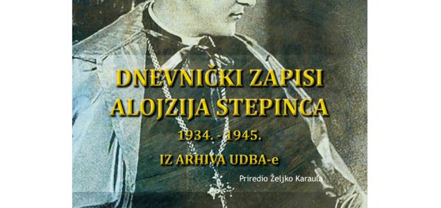 NOVO – DNEVNIČKI ZAPISI ALOJZIJA STEPINCA 1934. – 1945. IZ ARHIVA UDBA-e